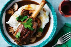 This South African take on lamb shank stew is served with a traditional creamy maize meal side. Roasted Lamb Shanks, Braised Lamb Shanks, Best Slow Cooker, Slow Cooker Recipes, Cooking Recipes, Cooking Time, Easy Lamb Shank Recipe, Lamb Shank Stew, Slow Cooked Lamb