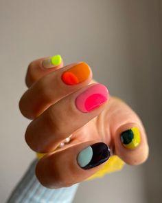 Edgy Nails, Funky Nails, Swag Nails, Pretty Nail Colors, Pretty Nails, Pastel Nails, Colored Acrylic Nails, Fire Nails, Minimalist Nails