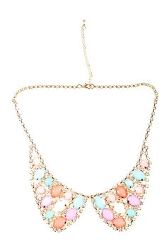 Pastel Bauble Collar Necklace
