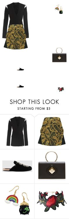 """""""Grace"""" by zoechengrace ❤ liked on Polyvore featuring David Koma, E L L E R Y, Gucci and Elie Saab"""