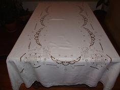 Stunning Italian Antique c.30s Round Tablecloth/Amazing от MAChic