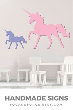 This listing is for a unicorn cutout - a magical addition to any girl's bedroom, playroom, or office. (Yes, it's for big girls, too!)