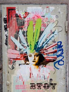 BTOY is a stencil artist from Barcelona. Her latest shows were in the Carmichael Gallery, Los Angeles; at the Brick lane Gallery, London; Barcelona, Stencil Art, Art Drawings Sketches, Creative Inspiration, Art Quotes, Art Projects, Moose Art, Art Gallery, Abstract