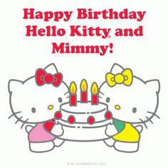 Happy Birthday Hello Kitty and Mimmy! Hello Kitty was born November 1, 1974