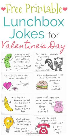 Lunchbox Jokes for Valentine's Day - FREE Printable! - Happy Home Fairy - Lunchbox Jokes for Valentine's Day – FREE Printable! – Happy Home Fairy Lunchbox Jokes for Valentine's Day – FREE Printable! – Happy Home Fairy My Funny Valentine, Valentines Day Jokes, Kinder Valentines, Valentines Diy, Valentine Day Gifts, Free Printable Valentines, Holiday Gifts, Valentine Wreath, Happy Valentines Day Funny Friends