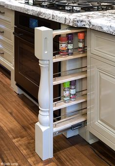Hiden Spice storage in kitchen