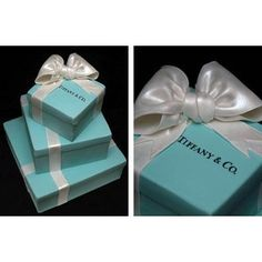 Another Tiffany and Co. box inspired wedding cake.    Tiffany cake by perfect-wedding-day.com