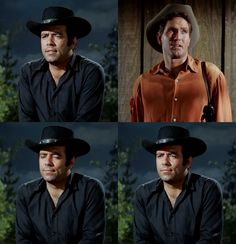 """Don't you have any sense at all? What do you care what they think?"" Adam scolds his singing-troubadour friend. From Song in the Dark (Bonanza)"