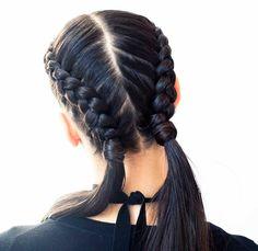 coiffure de sport cheveux longs boxer braids #coiffure #hairstyle #sport