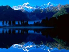 MATHESON LAKE, NEW ZEALAND KI-MOMENT  One of the mos beatiful lakes in the world