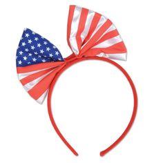 332cd4bd89f Beistle Patriotic Bow Headband (12ct) Patriotic Party
