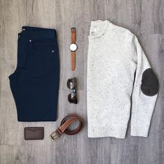 You can never have enough elbow patches. I mean, you probably don't want more than two on one item, but you catch my drift. More Than Two, Elbow Patches, Business Casual, Bermuda Shorts, Men's Fashion, Fall, Sweaters, Pants, Outfits