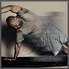 """Joseph Pilates In His Own Words @PilatesDwell_Canton   At Home In Your Own Body • """"Contrology (Pilates) is not a fatiguing system of dull, boring, exercises repeated daily """"ad-nauseam."""" Neither does it demand you joining a gym... You may derive all the benefits of it in your own home."""" :: #sosaysJosephPilates •  Pilates Mat Exercise: SIDE BEND • #pilates #pilatesstudio #pilatesinstructor #pilatesformen #pilatesmen #contrology #classicalpilates #calisthenics #gymnastics #gym #fitness #healthy Pilates For Men, Pilates Mat, Joseph Pilates, Pilates Instructor, Pilates Studio, Gymnastics Gym, Join A Gym, Calisthenics, Gym Fitness"""