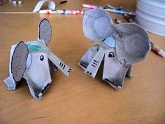 "Egg carton elephants - ""stomp stomp, stomp stomp, stomping like an ele-phant"""