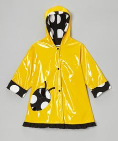 Take a look at this Yellow & Black Ladybug Raincoat - Infant, Toddler & Girls by Corky & Company on #zulily today!