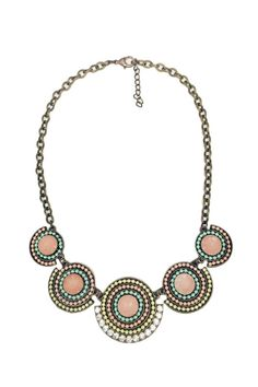 This unique necklace features antique gold hardware and rhinestone embellishments. Dress this up or down! Pair with a simple romper and sandals for a chic casual spring look! Adjustable in length.  Circle Necklace by Glam Squad Shop. Accessories - Jewelry - Necklaces Las Vegas