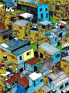 O morro é colorido - UrbanArts