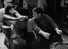 Claudia Cardinale and Jean-Paul Belmondo in La viaccia directed by Mauro Bolognini, 1961