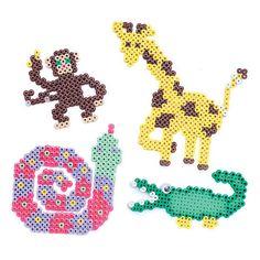 Animals hama perler beads Pearler Bead Patterns, Perler Patterns, Pearler Beads, Hama Beads Animals, Beaded Animals, Tier Zoo, Hama Beads Design, Fusion Beads, Iron Beads