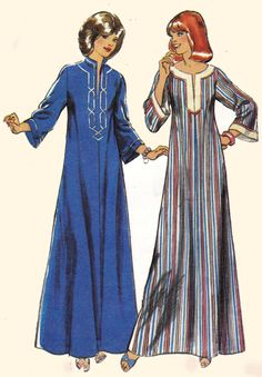 70s Vintage Sewing Pattern Style 2313 Maxi by allthepreciousthings,
