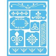 Americana Fleur de Lis Self-Adhesive Stencil-AGS205-A - The Home Depot