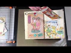 Altered Book - Part 4.  Artist goes through the finished book and all its inserts.  About a 15 minute video.