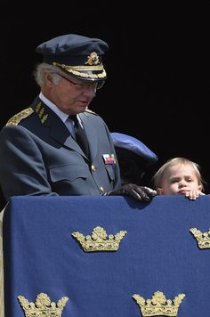 The Swedish royal family celebrates King Carl Gustaf's 69th birthday in keeping with tradition with a public celebration in the courtyard of the Royal Palace in Stockholm on April 30, 20