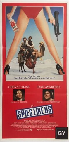 Spies Like Us original 1985 Australia/NZ Daybill movie poster, staring Dan Aykroyd and Chevy Chase. Available to purchase from our website.