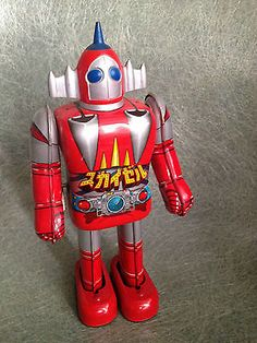 Popy tin windup Bullmark Shogun warrior