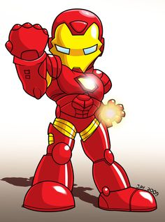 Chibi - Iron Man by JaeyRedfield.deviantart.com on @DeviantArt