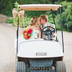 Wedding Golf Cart  I need one of these