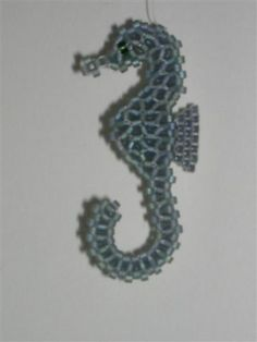 Seahorse. Miyuki Delicas.  Pattern by Ruth Kiel