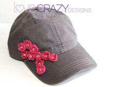Breast Cancer survivor baseball hat by LoveCrazyDesigns on Etsy