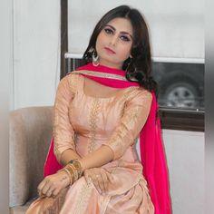 Punjabi dress Punjabi Dress, Punjabi Suits, Punjabi Fashion, Shalwar Kameez, Sari, Gowns, Dresses, Beauty, Girls