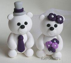 Polar Bear Cake Toppers by fliepsiebieps1, via Flickr