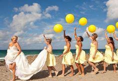 ビタミンカラー*黄色*のワンピースを着たブライズメイドは、みんなを元気にHAPPYに♡*   ZQN♡