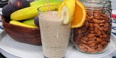3 Tasty Smoothies That Will Burn Your Belly Fat Like Crazy-Excess body fat is reason for many health problems like: heart disease, diabetes, fatty liver, hypertension, and increased risk of having cancer. Yummy Smoothies, Breakfast Smoothies, Smoothie Drinks, Morning Smoothies, Fig Smoothie, Breakfast Recipes, Simple Smoothies, Coconut Smoothie, Nutritious Breakfast
