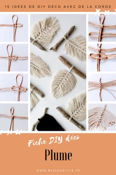 15 DIY decor ideas with rope – MissZaStyle – Decorative DIY decor ideas with rope – M… Querer para unos pocos disfrute y Bricolaje . Rope Crafts, Diy And Crafts, Feather Crafts, Feather Wreath, Creative Crafts, Yarn Crafts, Decor Crafts, Diy Jewelry Tutorials, Jewelry Crafts