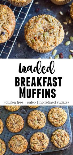 Loaded Breakfast Muffins (gluten free and paleo) - Savory Lotus - Snacks - Moist, delicious breakfast muffins loaded with protein, fiber, and a ridiculous amount of vitamin and minerals. All real food ingredients. Paleo Menu, Paleo Dinner, Paleo Recipes, Low Carb Recipes, Whole Food Recipes, Whole Foods, Real Foods, Paleo Food, Paleo Ideas