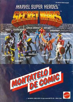 Secret Wars action figures and toys spanish ads Retro Toys, Vintage Toys, Marvel Secret Wars, Action Figure One Piece, Toys In The Attic, Custom Action Figures, Classic Toys, Old Toys, Comic Character