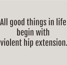 All good things in life begin with violent hip extension! #crossfit #weightlifting