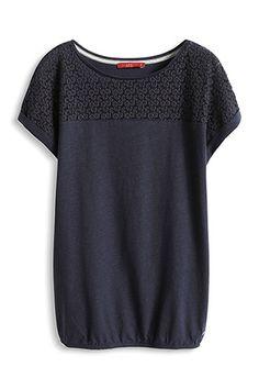 edc - Shirt mit Spitze im Online Shop kaufen