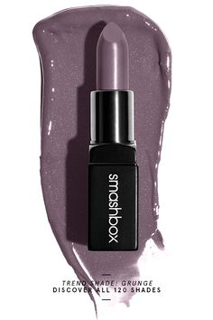 Meet Grunge, just one of our new Be Legendary120 Lipsticks. Check out all 120 shades, only on smashbox.com.