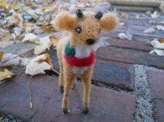 Felt Christmas Deer / Waldorf Christmas by FoxWoolDesigns on Etsy, $20.00