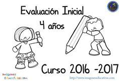 Evaluación inicial 4 años 2016-2017 (1) Teacher Hacks, Kindergarten, Preschool, Comics, Editable, Math Activities, Class Syllabus, Projects, Letter Activities