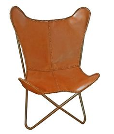 Butterfly chair #Vlinderstoel  shiny cognac S-Styling