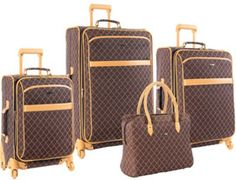 Found it at Wayfair - Pierre Cardin Signature 4 Piece Spinner Luggage Set Luggage Case, Carry On Luggage, Luggage Sets, Travel Luggage, Travel Bags, Luggage Store, Pierre Cardin, Designer Luggage, Travel Gifts