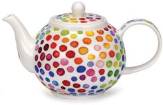 Dunoon - Fine Bone China Mugs - Teapot : Hot Spots Large Teapot