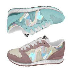 Noodles Runabout. Retrorunners in dusty pastels and metallic. Due SS15