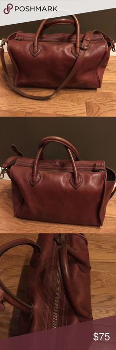 Madewell Camden Leather Satchel ❤️ Perfectly worn Madewell Camden Leather Satchel, oxblood color. Approximately 13 inches wide, 8 inches tall and 6 inches deep. This is in vintage condition. This bag has been used and shows wear - however there are no rips, tears, stains, odors, etc. Includes original (removable) shoulder strap. I had it conditioned by a professional last year. It's so cool! Just not as much my style as I wish it was! Don't like my price? Make a reasonable offer! ❤️ Madewell…